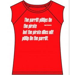 T- Poem » THE PARROT POOPS«